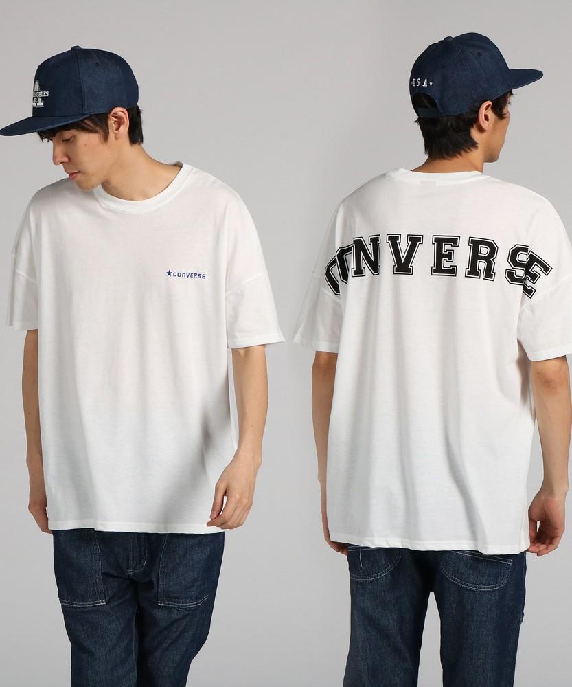 CONVERSE ビッグロゴプリントTシャツ メンズ *ブラック