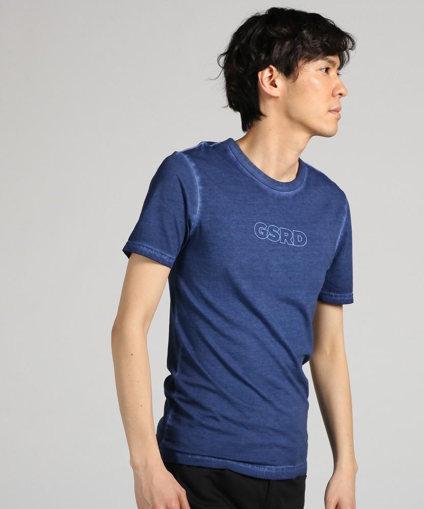 G-Star RAW オーバーダイ加工半袖Tシャツ メンズ ネイビー