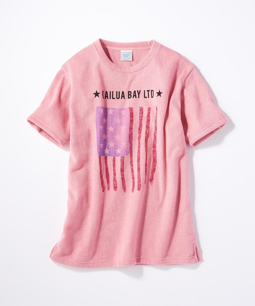 KALUA BAY サマープリントパイルTシャツ メンズ ピンク