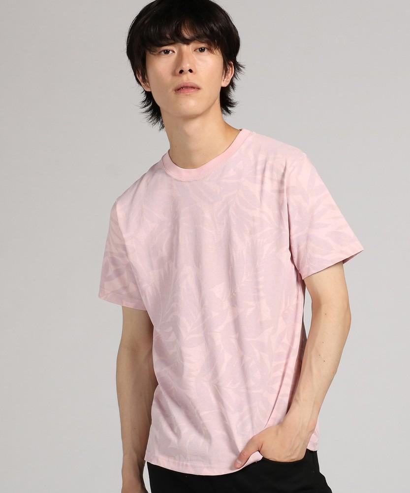 LAB 総柄プリント半袖Tシャツ メンズ ピンク