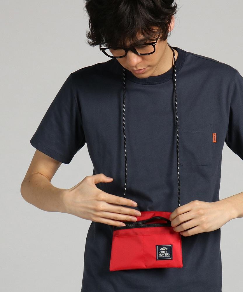 KRIFF MAYER 【WEB限定】サコッシュ付きTシャツ メンズ ネイビー