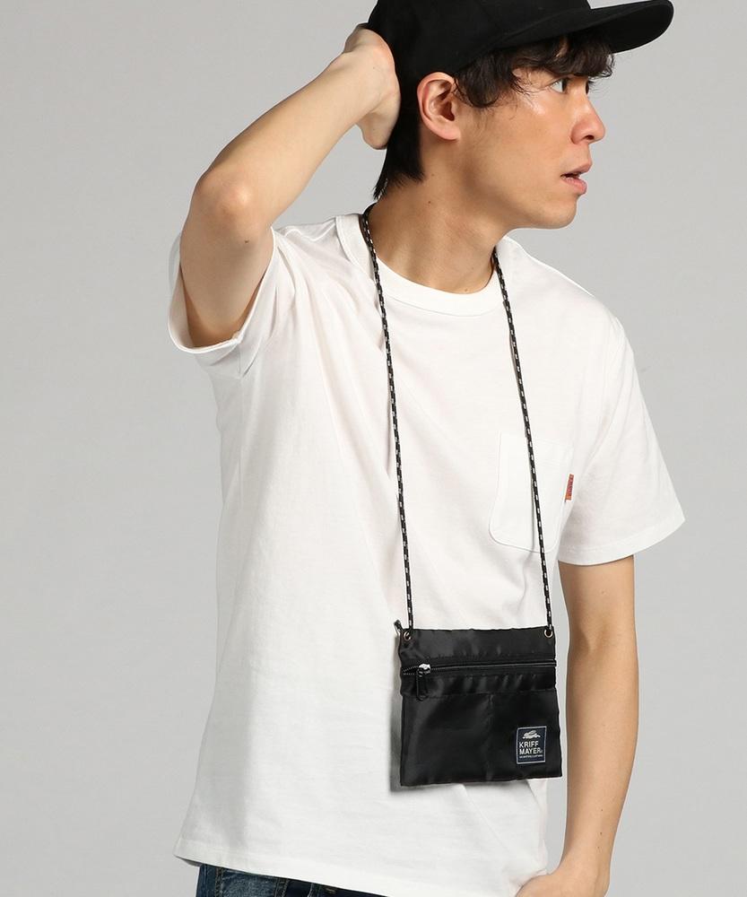 KRIFF MAYER 【WEB限定】サコッシュ付きTシャツ メンズ オフシロ