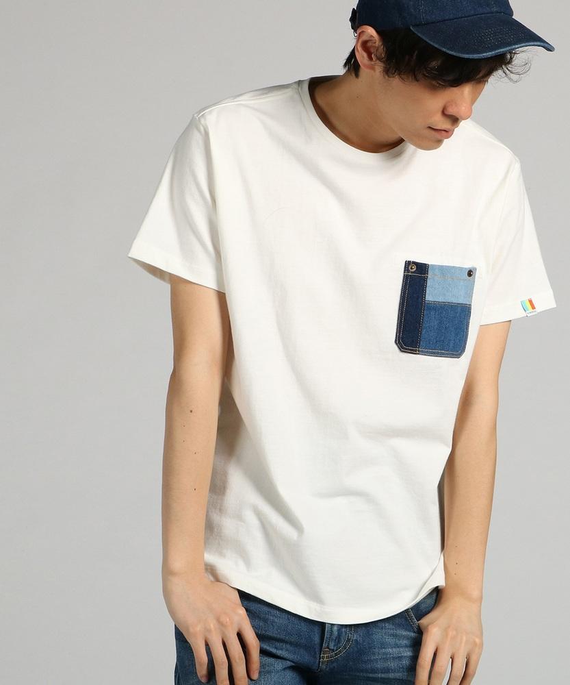 KRIFF MAYER 【WEB限定】デニムポケット付きTシャツ メンズ オフシロ
