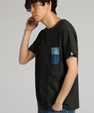 KRIFF MAYER 【WEB限定】デニムポケット付キTシャツ メンズ ダークグレー