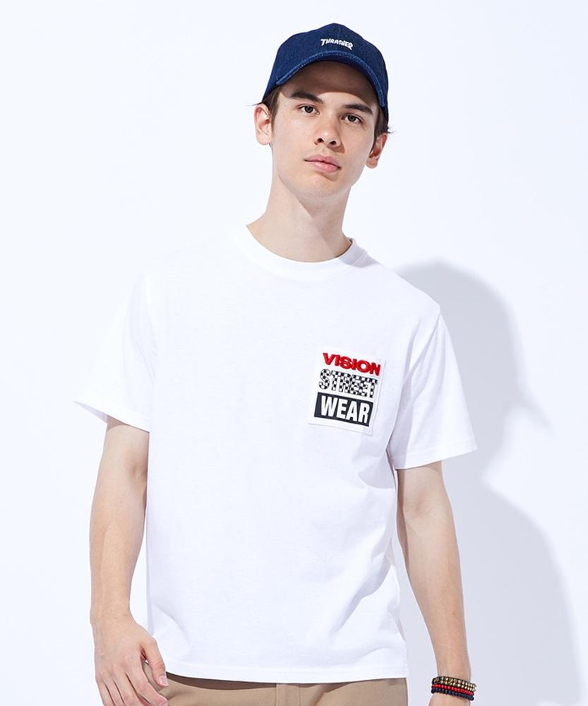 VISION ポケロゴTシャツ メンズ ホワイト