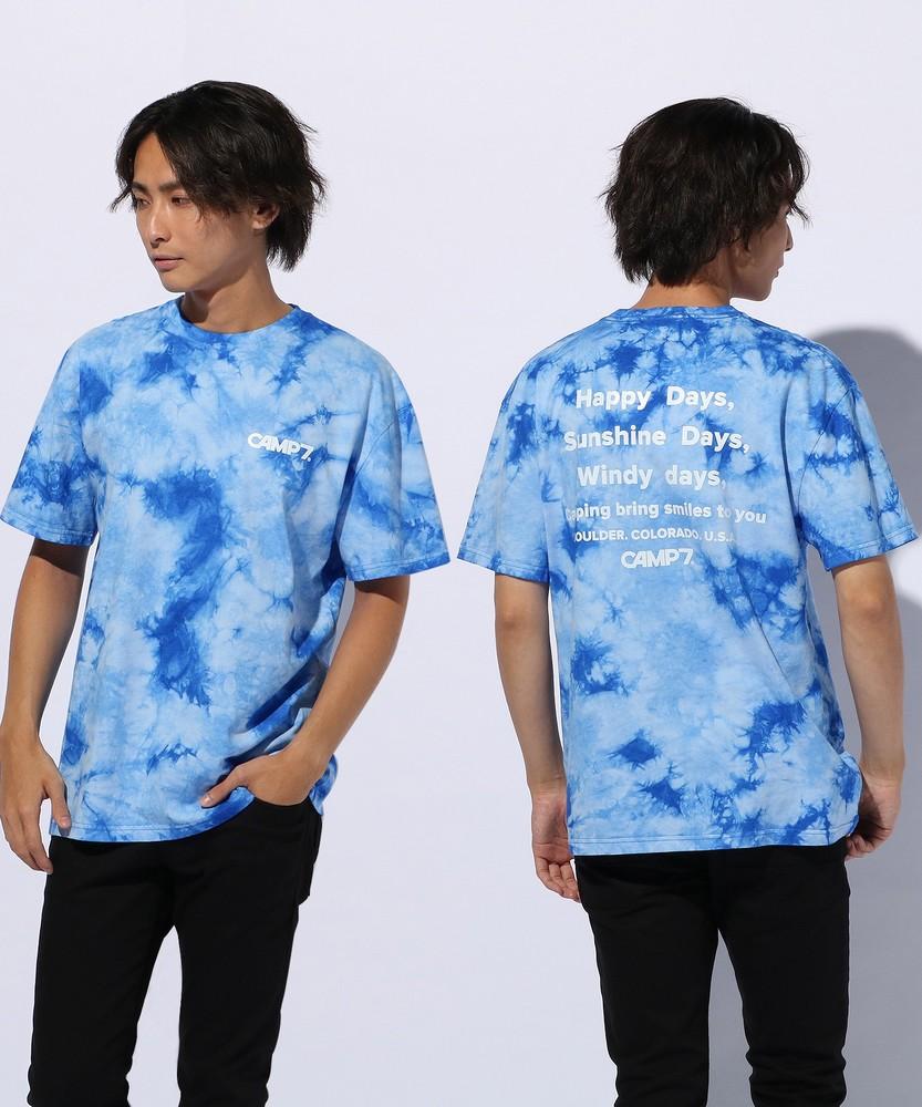 CAMP7 タイダイTシャツ メンズ ブルー