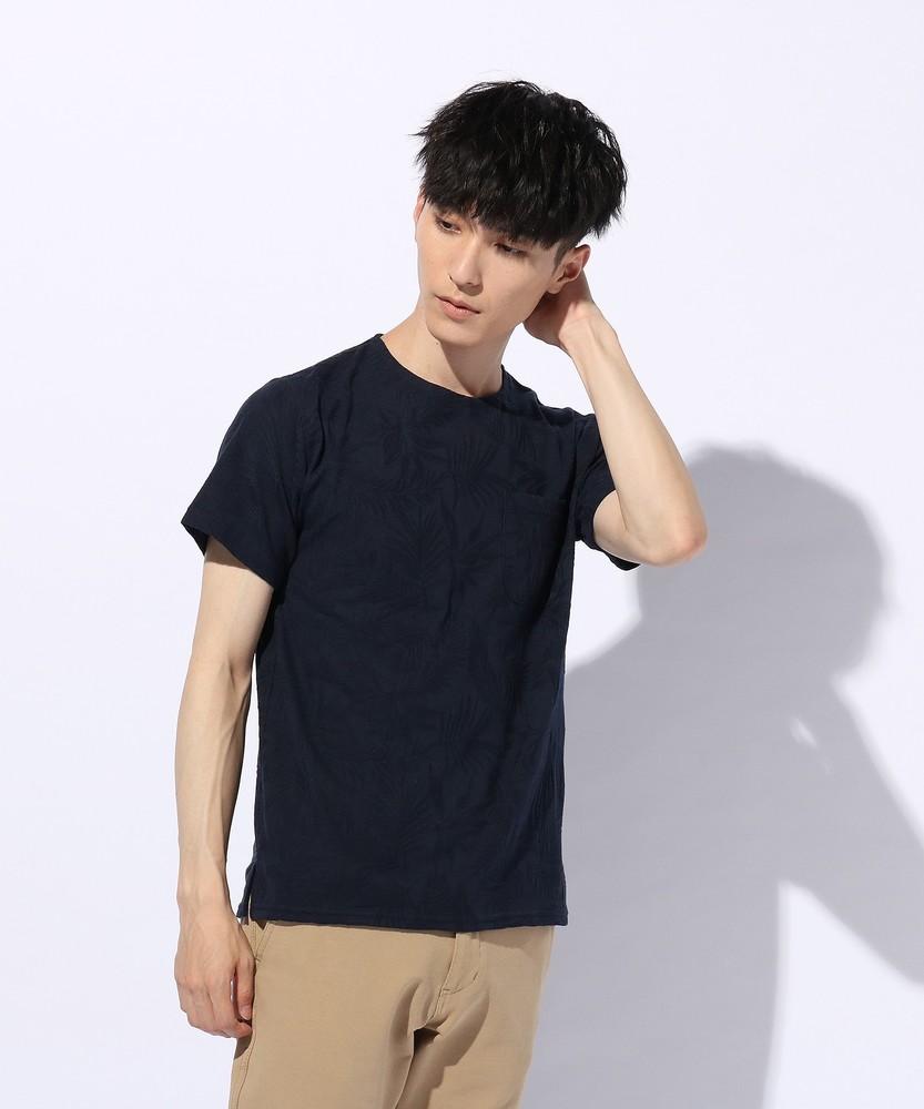 1d37f6c72b42e UNLIMITED ABILITY ジャガードポケットTシャツ メンズ ネイビー