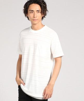 Natural Story ジャガードフェイクTシャツ メンズ ホワイト