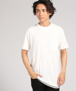 Natural Story ジャガードフェイクTシャツ メンズ *ホワイト
