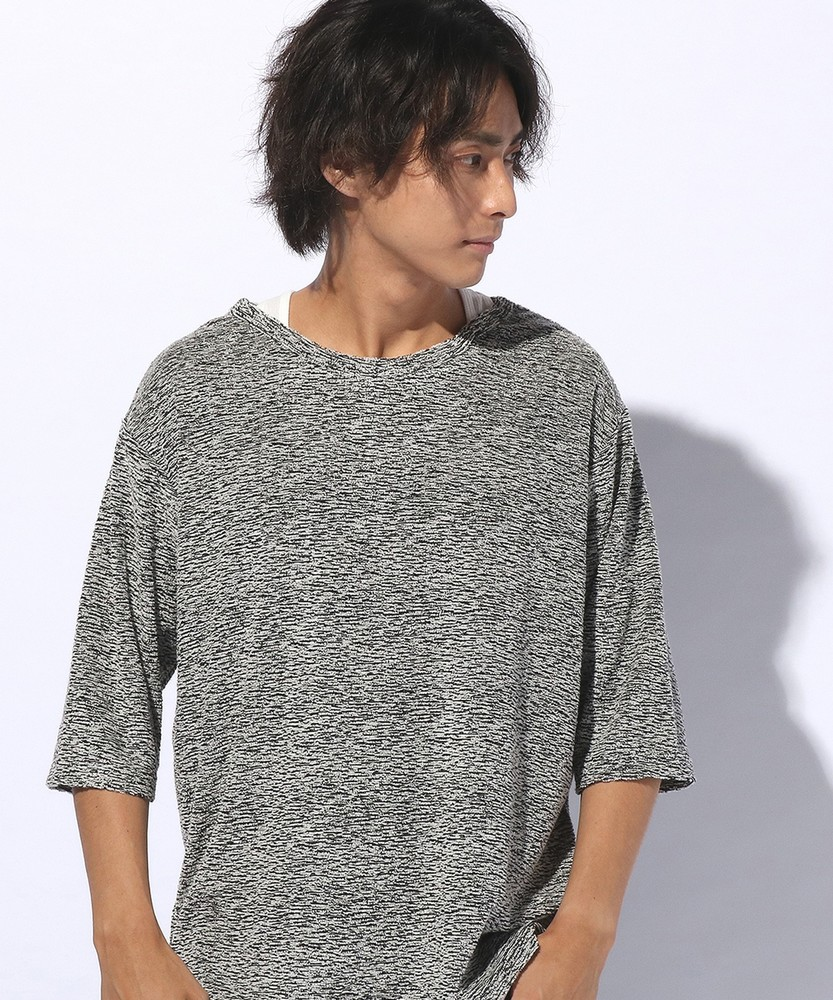 NEOSARTIC ブークレクルーレイヤードTシャツ メンズ グレー