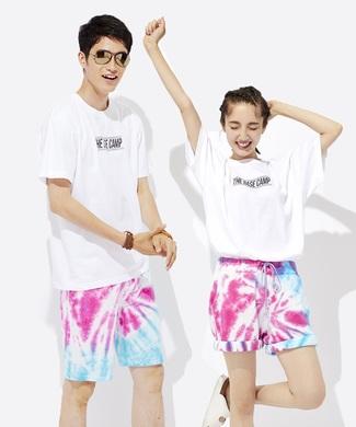 BACK NUMBER 【WEB限定】フラッシュ撮影すると変化するマジックなTシャツ(ベースキャンプ編) ユニセックス ホワイト