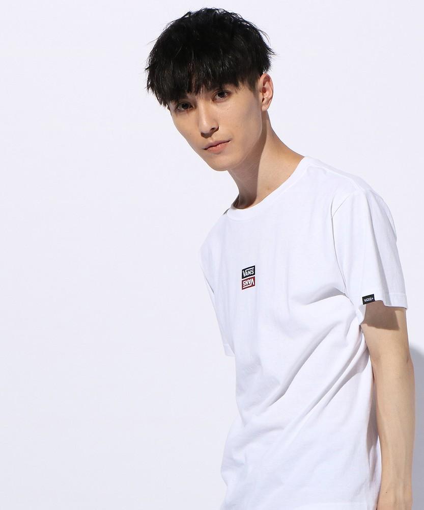 VANS リバーサルスクエアーTシャツ メンズ ホワイト
