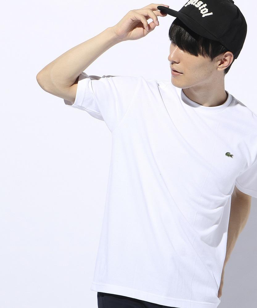 LACOSTE 鹿の子Tシャツ メンズ ホワイト