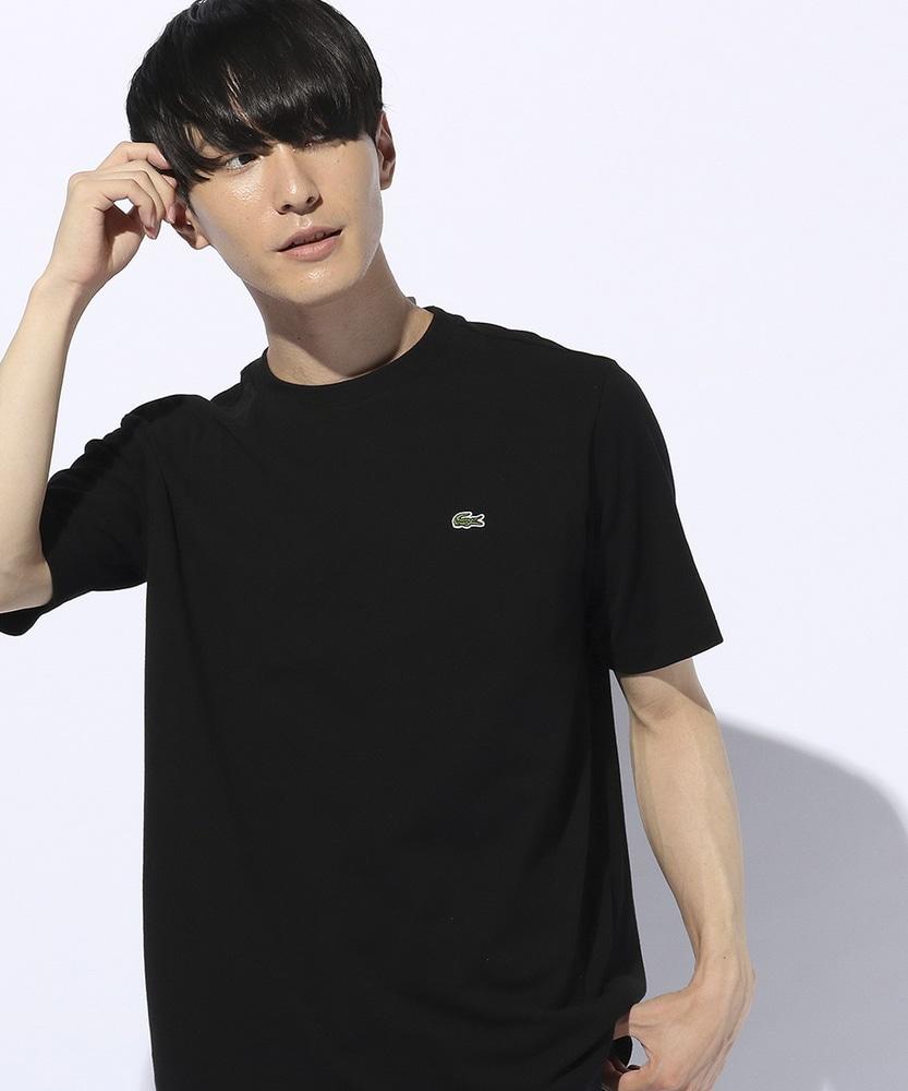 LACOSTE 鹿の子Tシャツ メンズ ブラック