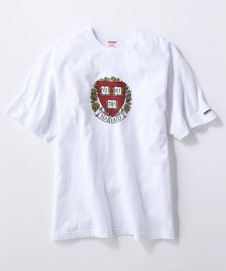 HARVARD ロゴTシャツ メンズ ホワイト