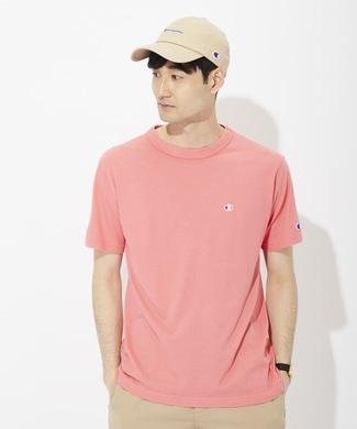 Champion ワンポイントロゴTシャツ メンズ ピンク