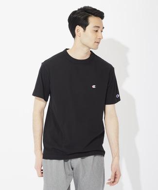 Champion ワンポイントロゴTシャツ メンズ ブラック