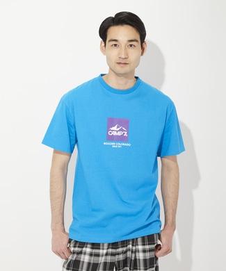 CAMP7 カラーロゴTシャツ ユニセックス サックス