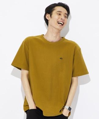 ALPHA ブラッドチットバックプリントTシャツ メンズ カーキ
