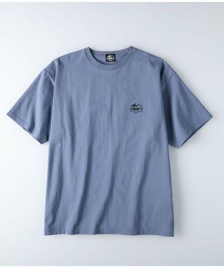 CAMP7 エンボスフォトTシャツ メンズ ブルー| メンズファッショントレンド