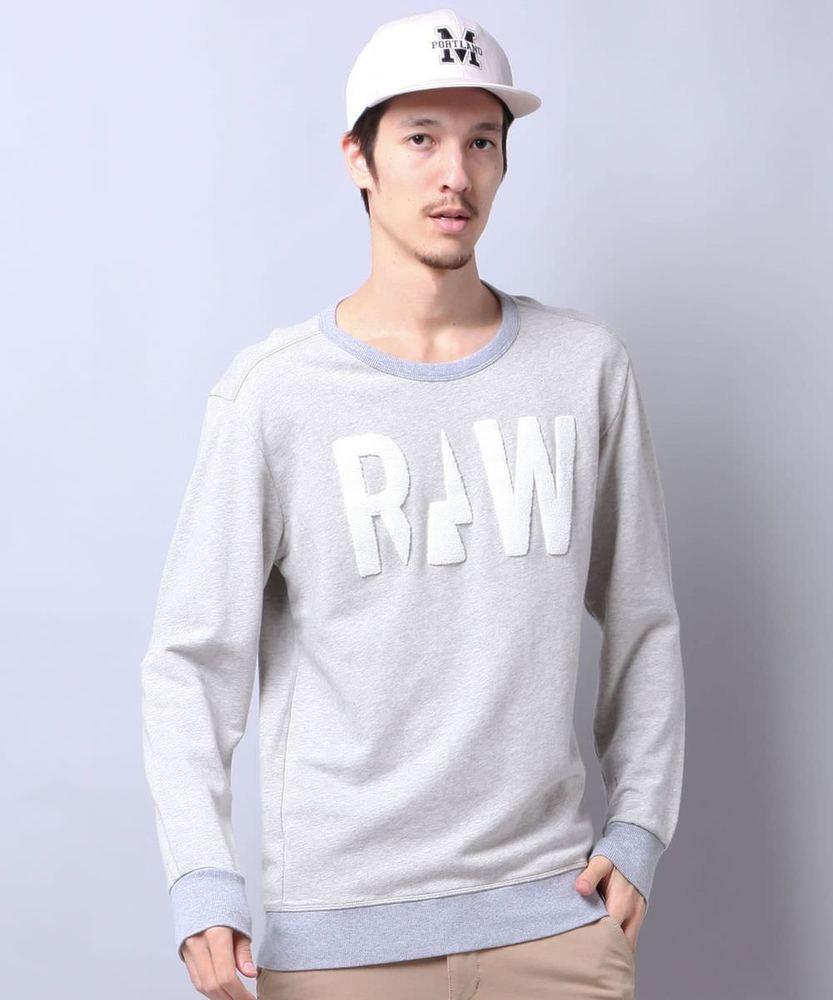 G-Star RAW ワッペンスウェット メンズ グレー