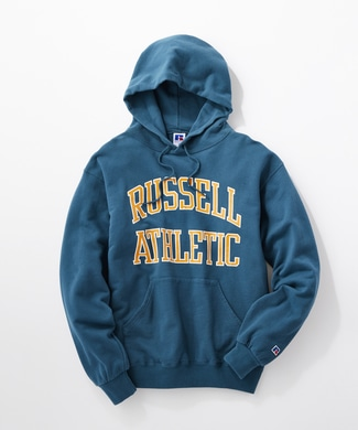 RUSSELL カレッジスウェットパーカー メンズ グリーン