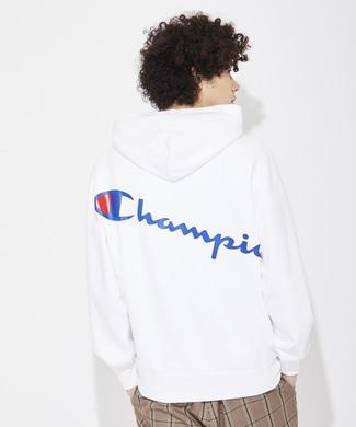 Champion 『ライトオン限定』バックプリントパーカー メンズ ホワイト