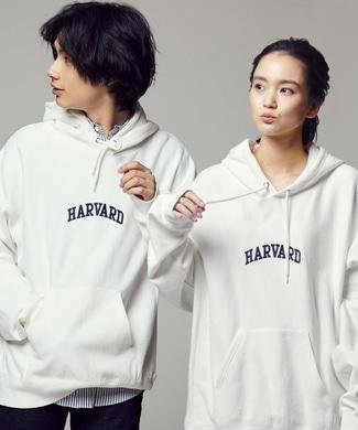 HARVARD カレッジロゴパーカー メンズ ホワイト