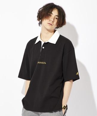 KANGOL フロントロゴラガーポロシャツ ユニセックス ブラック