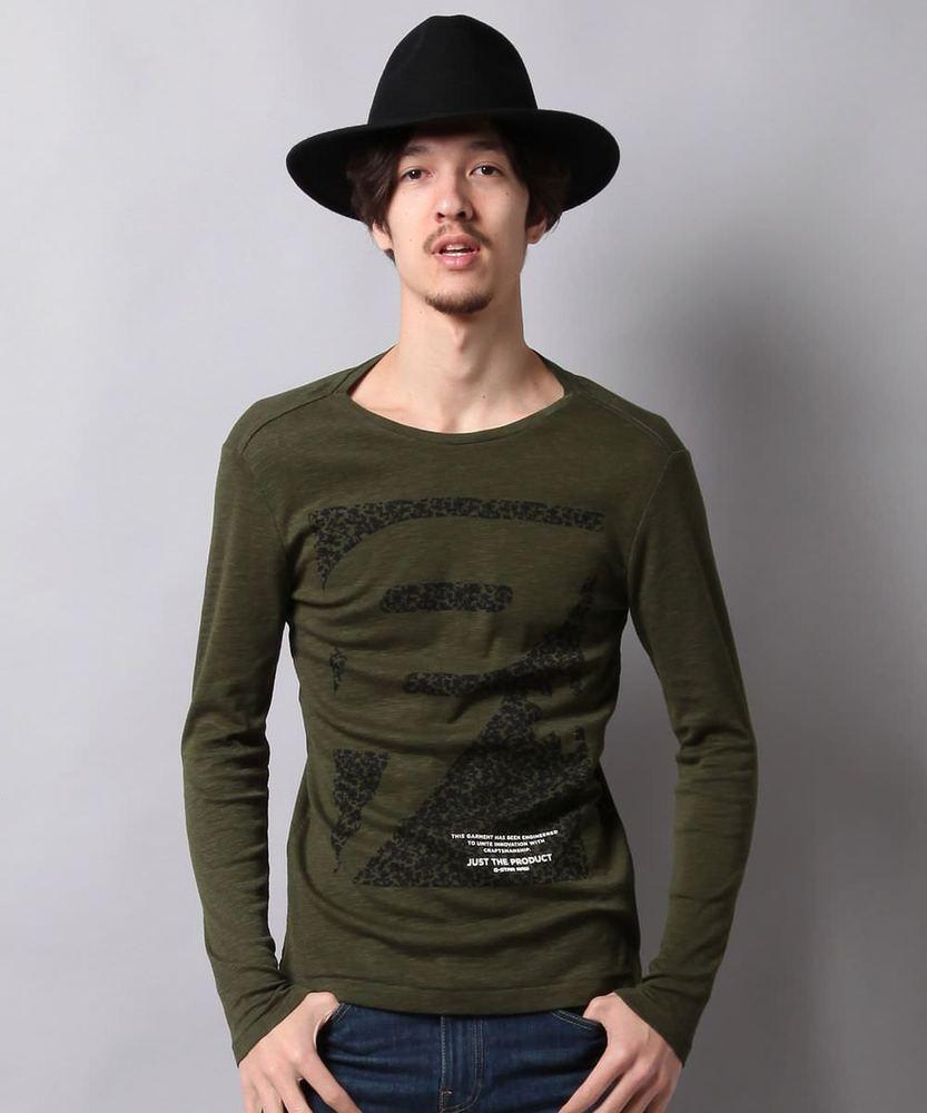 G-Star RAW スラブTシャツ メンズ グリーン