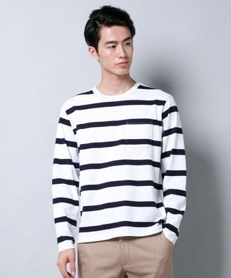 BACK NUMBER 【Web限定価格】ボーダー長袖Tシャツ メンズ ネイビー