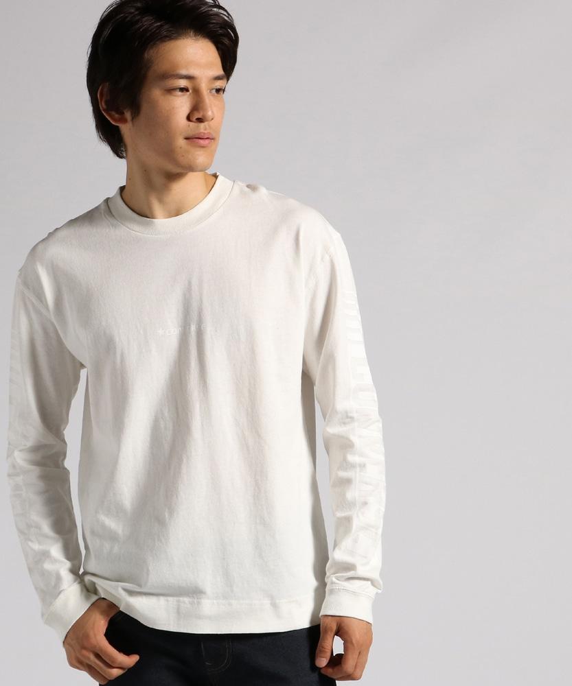 CONVERSE ピグメントロングスリーブTシャツ メンズ ホワイト