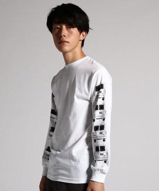 CAPTAIN FIN 【WEB限定価格】プリントロングスリーブTシャツ メンズ ホワイト