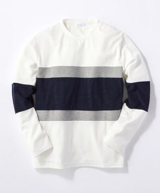 CERONIAS キリカエ長袖Tシャツ メンズ ホワイト
