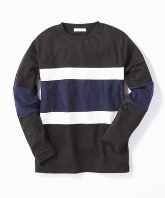 CERONIAS キリカエ長袖Tシャツ メンズ ブラック