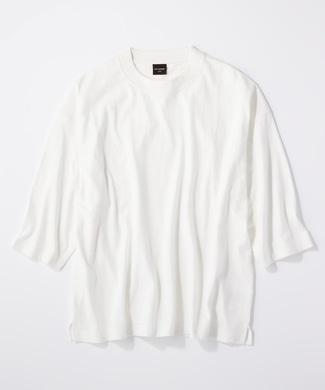 RAG MACHINE ビッグシルエット7分Tシャツ メンズ オフシロ