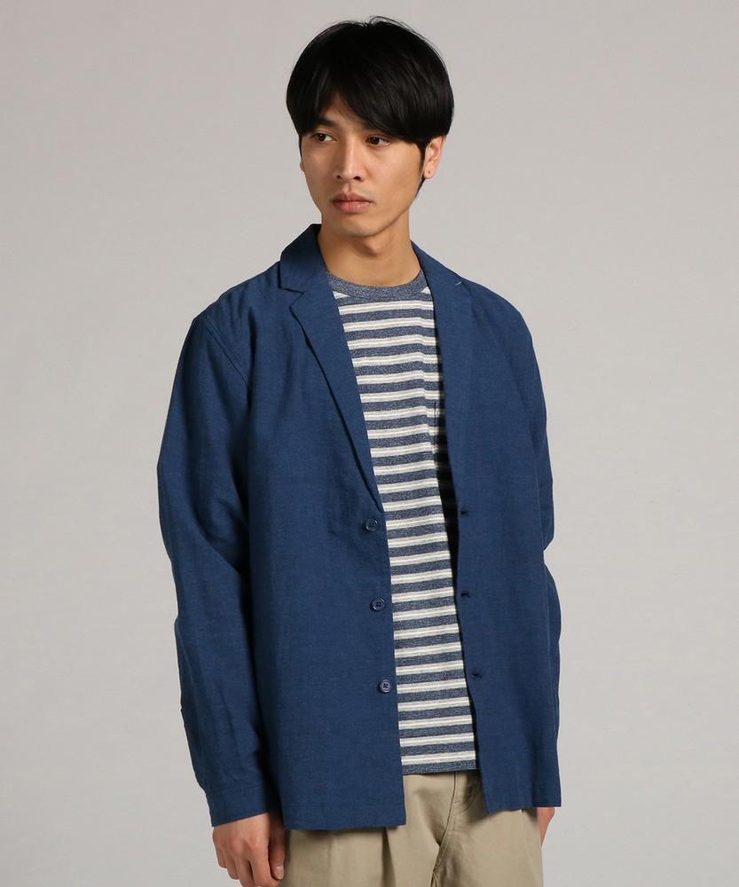 BACK NUMBER 「WASHI DENIM」和紙コーチテーラードジャケット メンズ ブルー