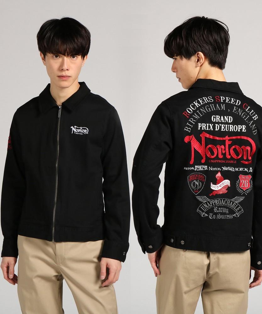 Norton ストレッチドリズラージャケット メンズ ブラック