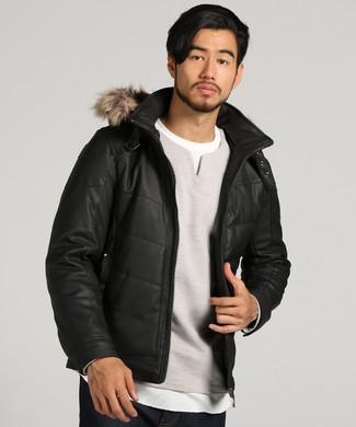 LOUIS CHAVLON 中綿ジャケット メンズ ブラック