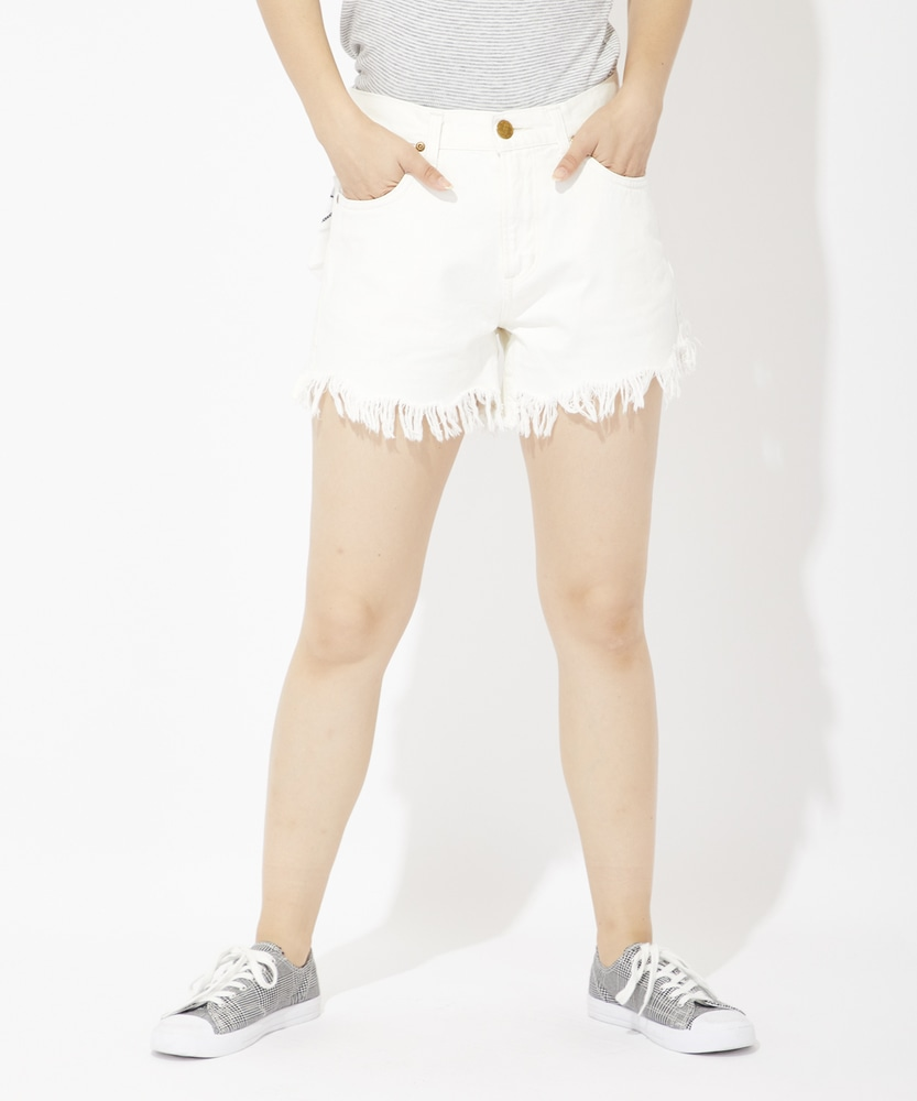 Lee 【WEB限定】カットオフデニムショートパンツ レディース ホワイト