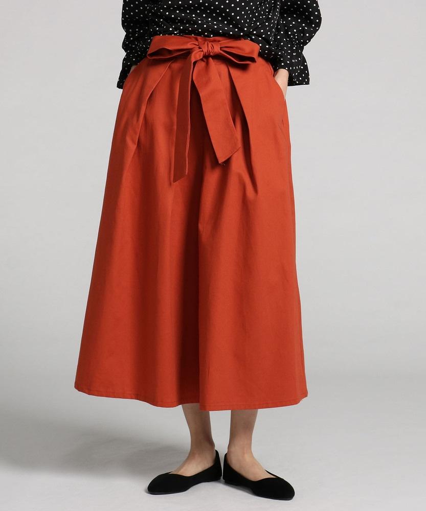 HONEYSUCKLE ROSE カラーロングスカート レディース オレンジ