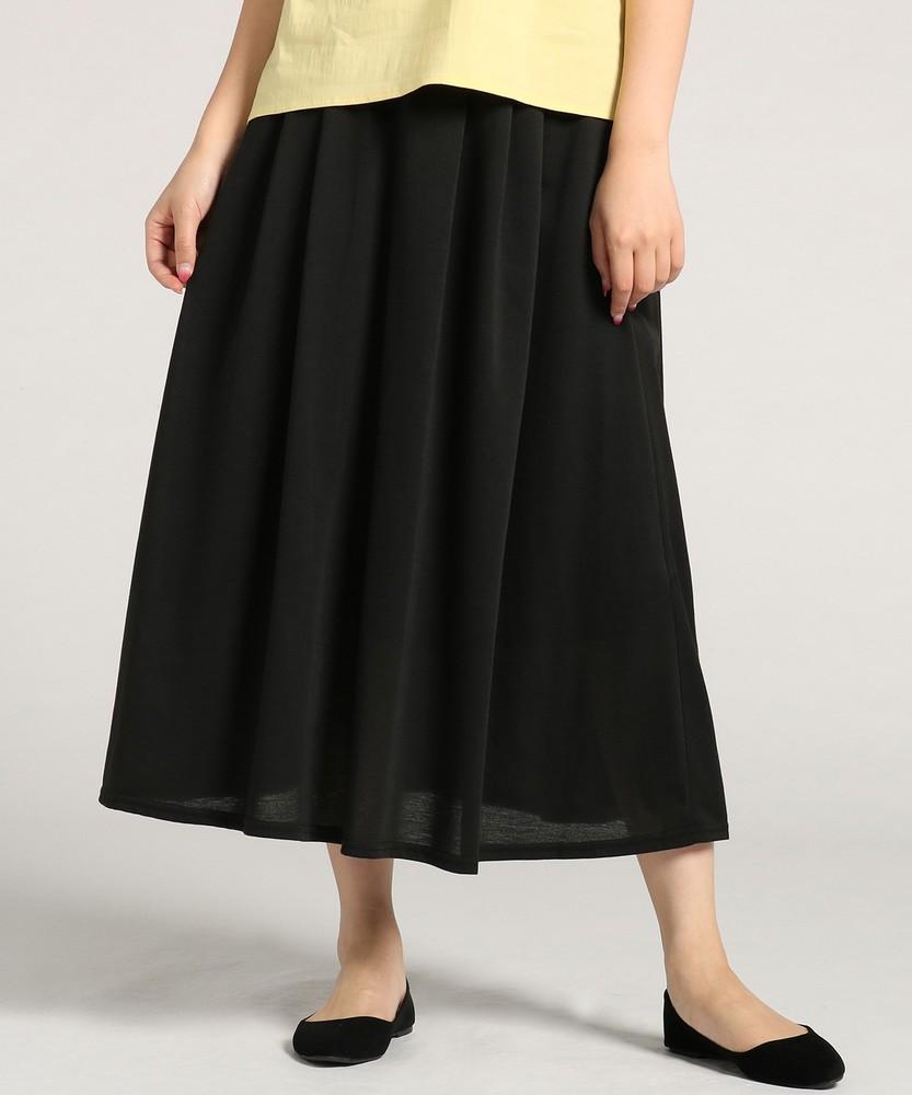 HONEYSUCKLE ROSE カットロングスカート レディース ブラック