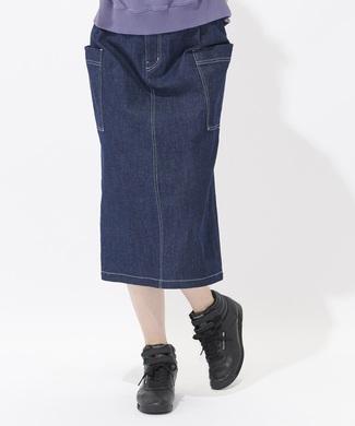 Dickies ベルト付きタイトスカート レディース 濃色