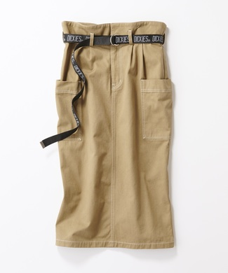 Dickies ベルト付きタイトスカート レディース ベージュ