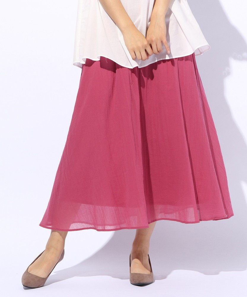 BACK NUMBER カラーロングスカート レディース ピンク