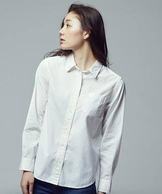 BACK NUMBER ブロードレギュラーシャツ レディース ホワイト