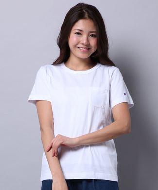 Champion 無地Tシャツ レディース ホワイト