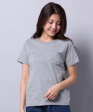 Champion 無地Tシャツ レディース グレー