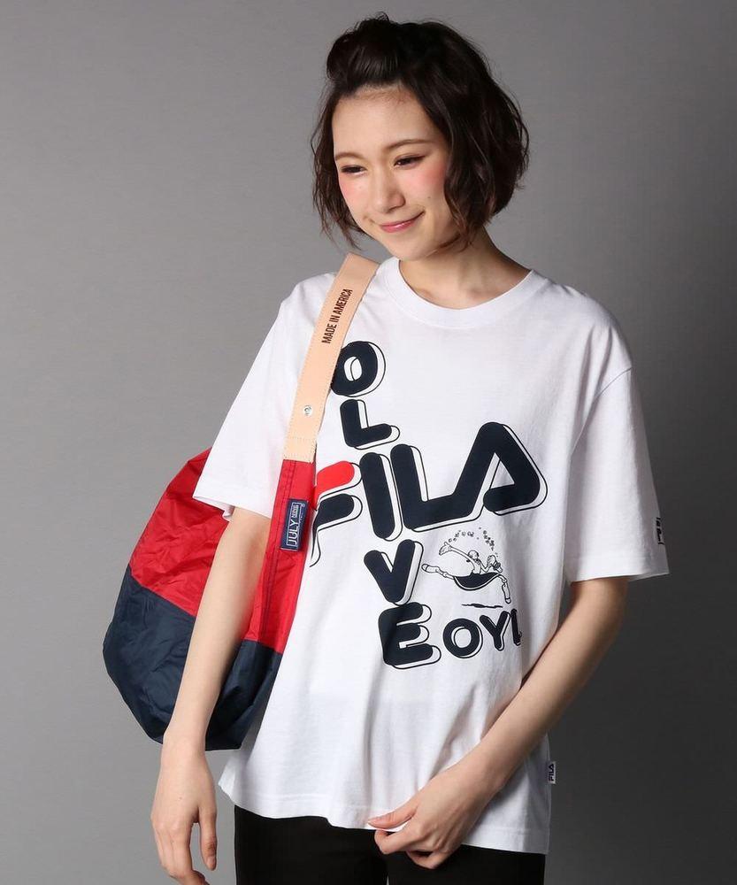 FILA 【WEB限定価格】プリントTシャツ レディース *オフシロ