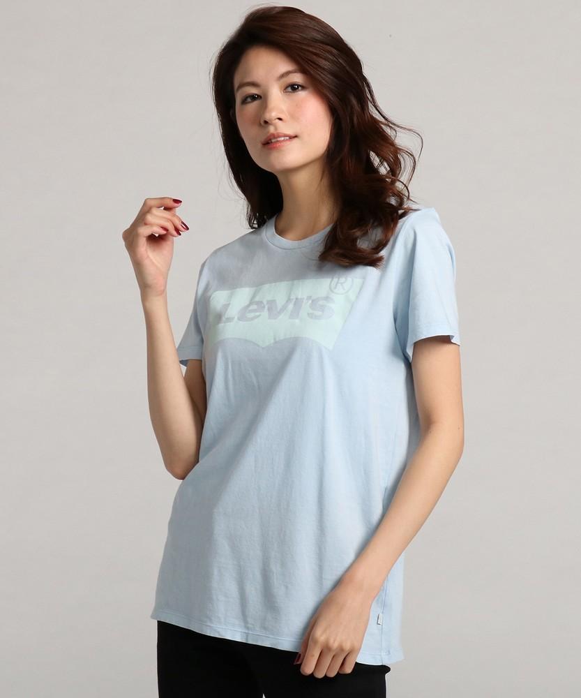Levi's バットウィングクルーネックTシャツ レディース ブルー